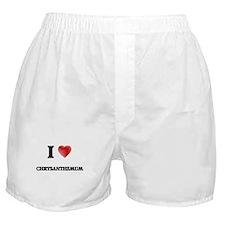 I Love Chrysanthemum Boxer Shorts