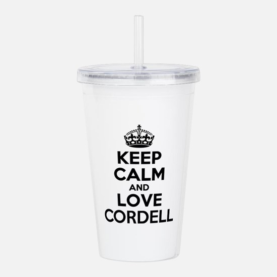 Keep Calm and Love COR Acrylic Double-wall Tumbler