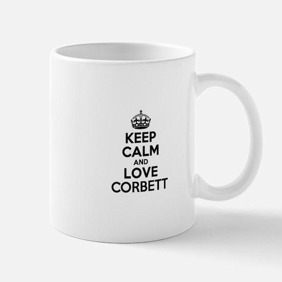 Keep Calm and Love CORBETT Mugs