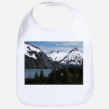 Portage Lake and mountains, Alaska, USA Bib