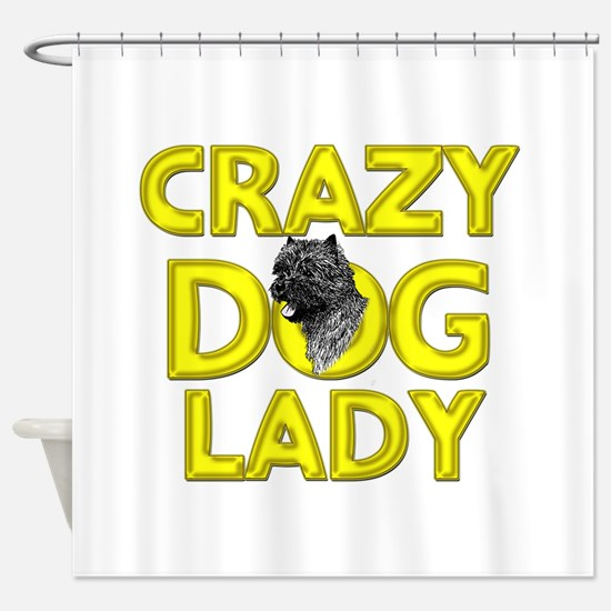 Crazy Dog Lady Shower Curtain