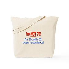 Cute 70th Tote Bag