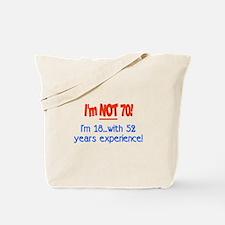 Cute 70 years old Tote Bag