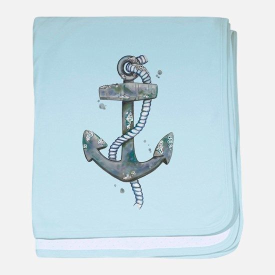 Anchor with Barnicles baby blanket
