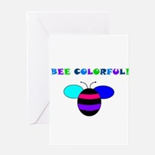 BEE COLORFUL Greeting Card
