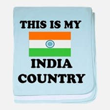 This Is My India Country baby blanket