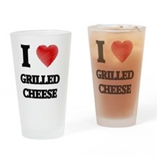 I Love Grilled Cheese Drinking Glass