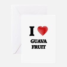 I Love Guava Fruit Greeting Cards