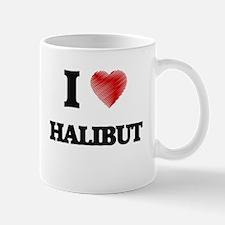 I Love Halibut Mugs