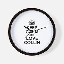 Keep Calm and Love COLLIN Wall Clock