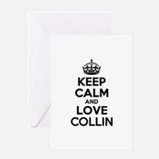 Keep Calm and Love COLLIN Greeting Cards