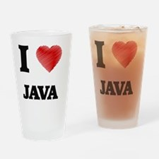 I Love Java Drinking Glass
