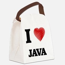 I Love Java Canvas Lunch Bag