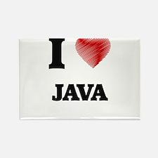 I Love Java Magnets