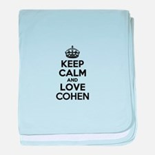 Keep Calm and Love COHEN baby blanket