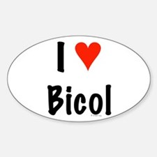 I love Bicol Oval Decal
