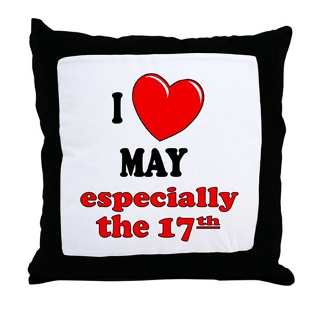 May 17th Throw Pillow