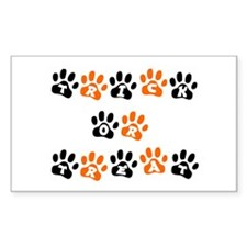 """""""Trick Or Treat Paws"""" Rectangle Decal"""