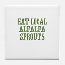 Eat Local Alfalfa Sprouts Tile Coaster