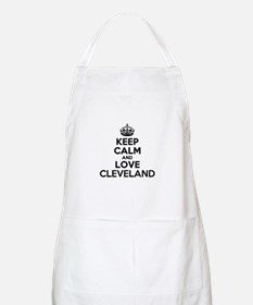 Keep Calm and Love CLEVELAND Apron