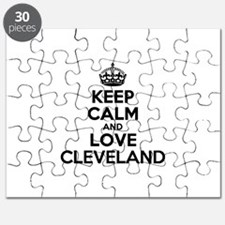 Keep Calm and Love CLEVELAND Puzzle