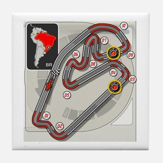 Brazilian Grand Prix Tile Coaster