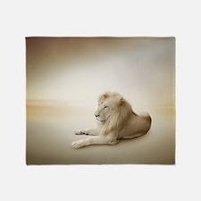 White Lion Throw Blanket