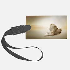 White Lion Luggage Tag