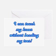 Touch My Toes Greeting Card