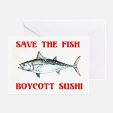 BOYCOTT SUSHI Greeting Card