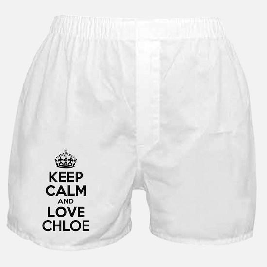 Keep Calm and Love CHLOE Boxer Shorts