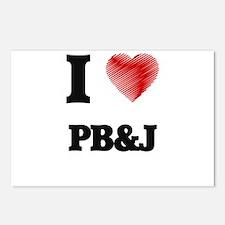 I Love Pb&J Postcards (Package of 8)
