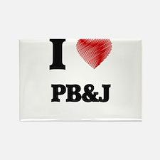 I Love Pb&J Magnets