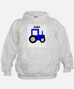 Personalized Blue Tractors - Hoodie