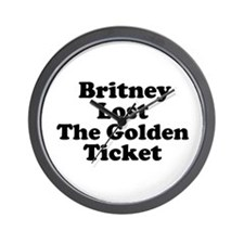Britney Lost the Golden Ticke Wall Clock
