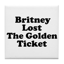 Britney Lost the Golden Ticke Tile Coaster