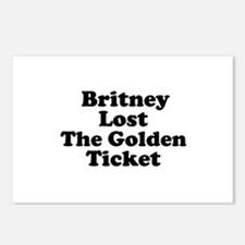 Britney Lost the Golden Ticke Postcards (Package o