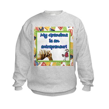 """Kid's """"My Grandma is an entrepreneur"""" Sweatshirt"""