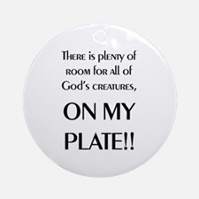 On My Plate Ornament (Round)