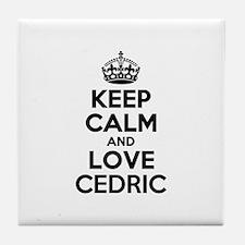 Keep Calm and Love CEDRIC Tile Coaster