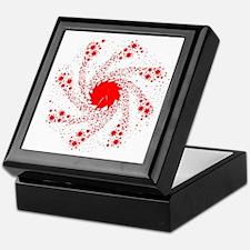 Red Pin Wheel Keepsake Box