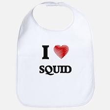I Love Squid Bib