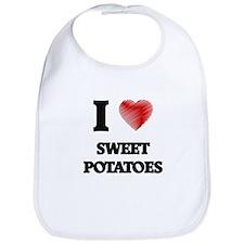 I Love Sweet Potatoes Bib