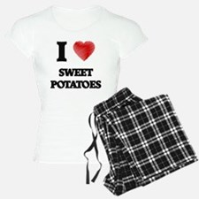 I Love Sweet Potatoes Pajamas