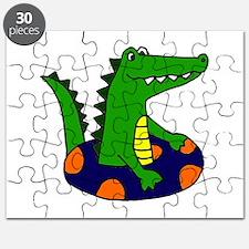 Funny Alligator Tubing Puzzle