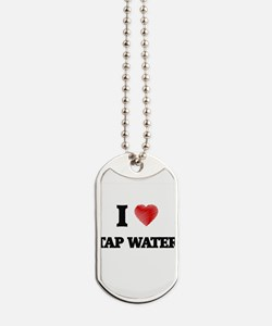I Love Tap Water Dog Tags