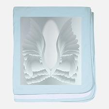 Silver Angel Wings baby blanket