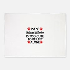 Miniature Bull Terrier Is Too Cute 5'x7'Area Rug