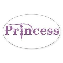 23. Princess Oval Decal
