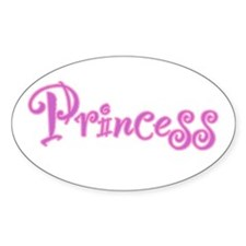 25. Princess Oval Decal